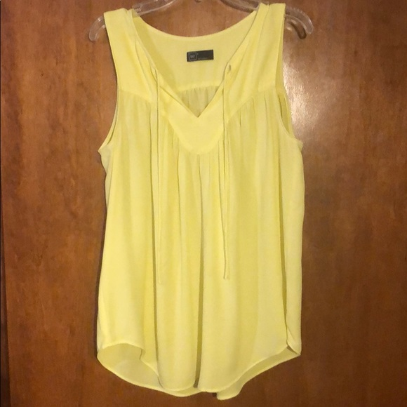 GAP Tops - Gap bright yellow sleeveless blouse